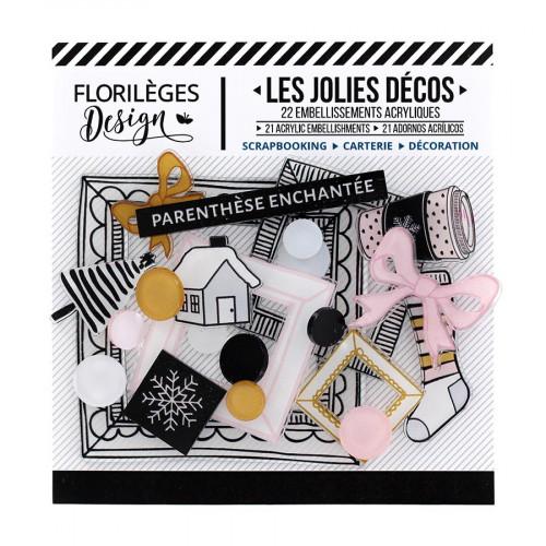 Décos Parenthèse enchantée - 22 embellissements acryliques