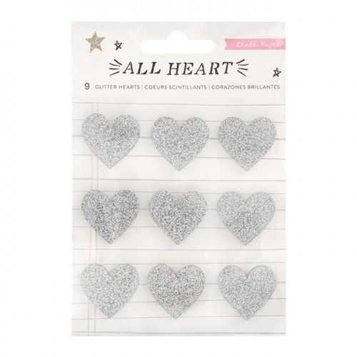 All Heart Cœurs pailletés - 9 pcs
