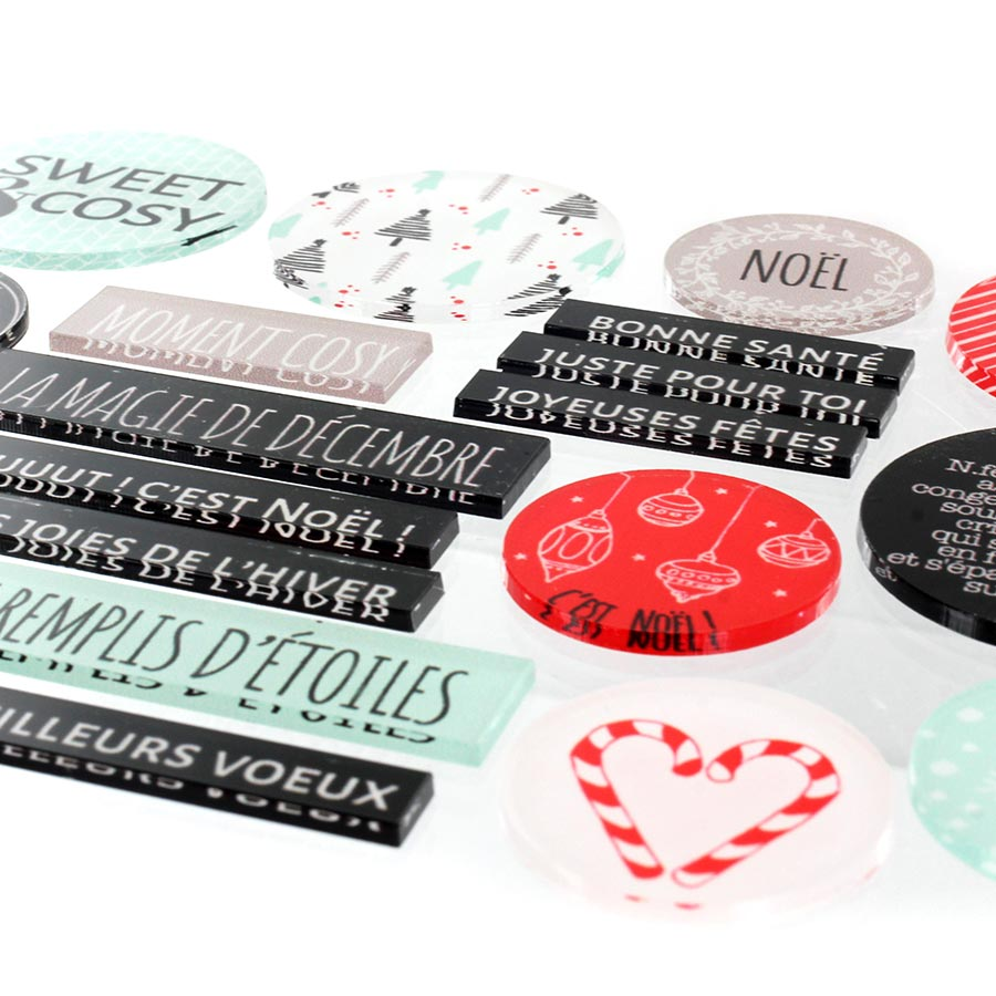 Décos Sweet and Cosy - 20 embellissements acryliques