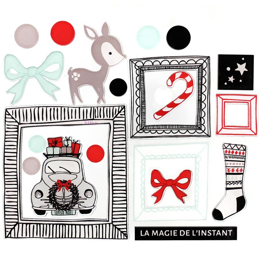 Décos Magie de l'instant - 22 embellissements acryliques