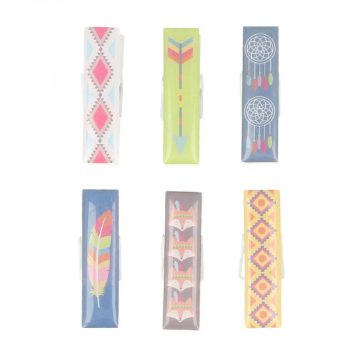 Totem - Pinces Epoxy - 6 pcs - 1,2 x 4,5 cm