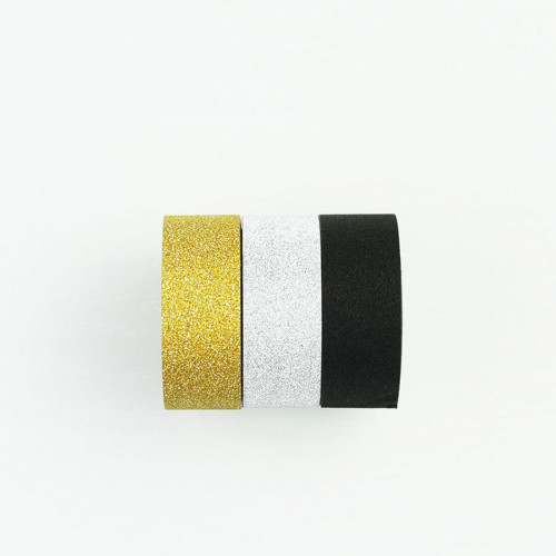 Washi Tape Bling Bling - argent, or, noir