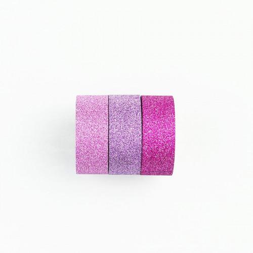 Washi Tape Bling Bling - rose, violet, fuchsia