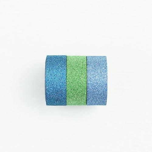 Washi Tape Bling Bling - bleu, vert, turquoise