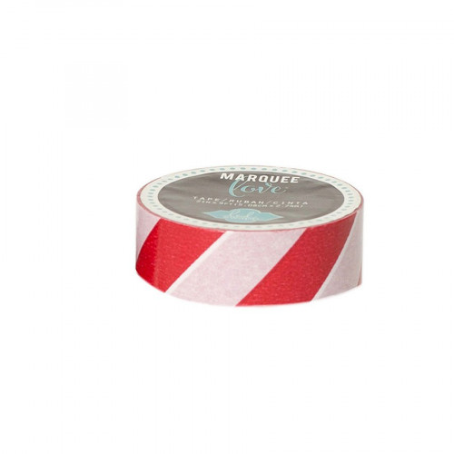 Marquee Love - Masking Tape - Red and White - 2,2 cm x 2,7 m