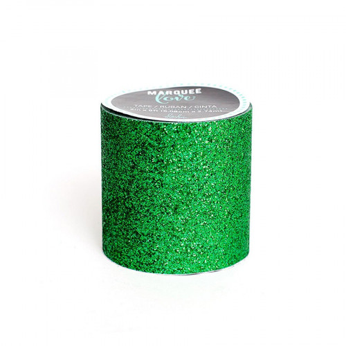 Marquee Love - Masking Tape - Glitter Green - 5,1 cm x 2,7 m
