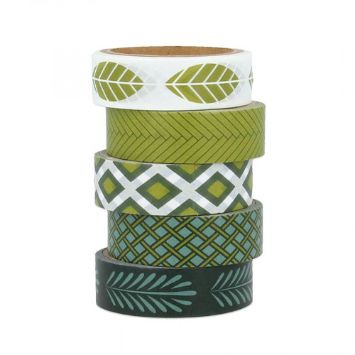 Masking Tape Deep Green - 5 rouleaux