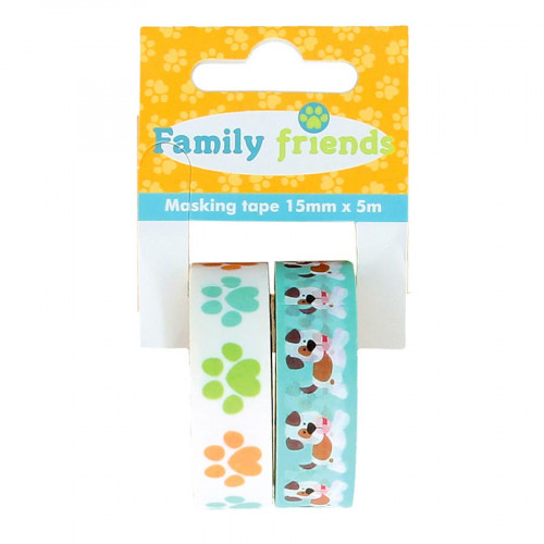 Masking Tape Family Friends Chiens - 2 rouleaux