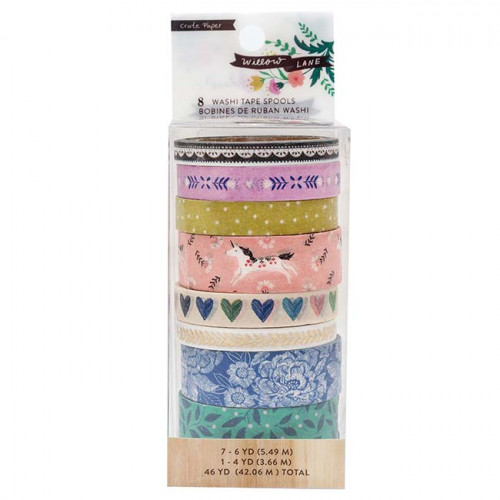 Willow Lane Washi Tape - 8 rouleaux