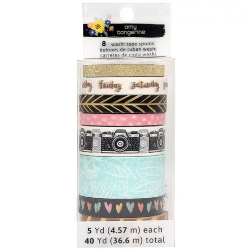 Shine On Washi Tape - 8 rouleaux