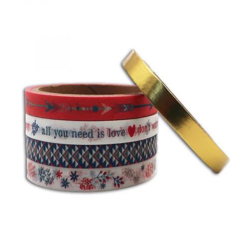 Hygge Mini Masking Tape Ma vie au quotidien - 5 rouleaux