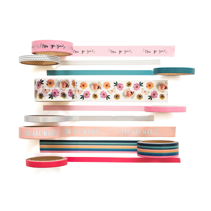 All Heart Washi Tape - 9 rouleaux