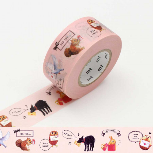 Masking Tape Pack - Animaux - permanent - 2,5 cm x 15 m