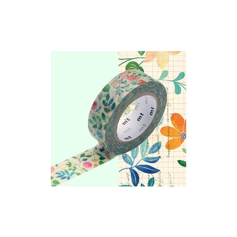 Masking Tape - Fleurs sur Papier - 1,5 cm x 10 m