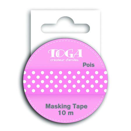 Bout'Chou Rose - Masking Tape - Rose à Pois