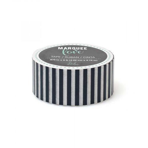 Masking Tape- 2,2 cm x 2,7 m - Rayures bleu marine et blanches
