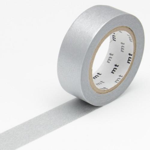Masking Tape - Uni argent - 1,5 cm x 10 m