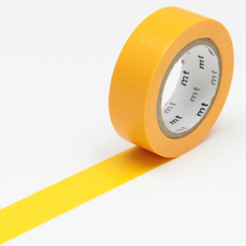 Masking Tape - Uni orange - 1,5 cm x 10 m
