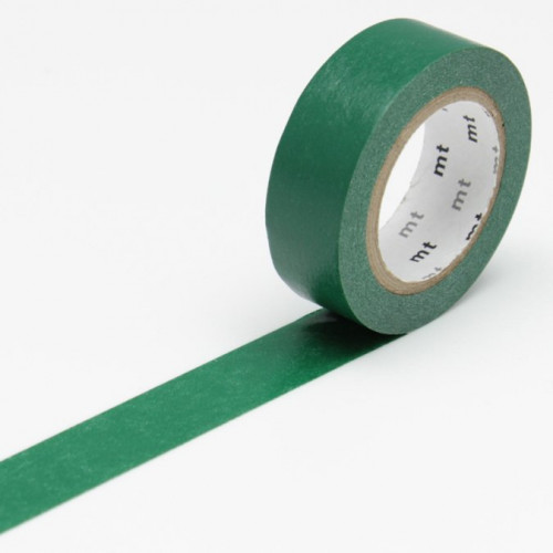 Masking Tape - Uni vert paon - 1,5 cm x 10 m