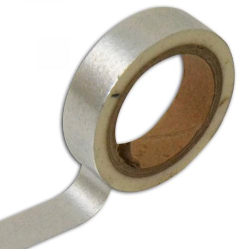 Masking Tape - Uni Argent - 1 cm x 5 m