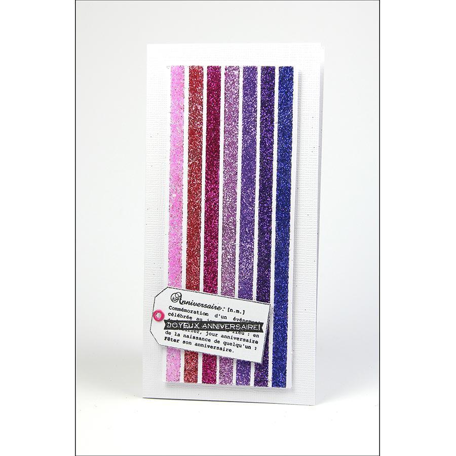 Oh Glitter ! - Glitter Tape - rose pastel - 1,5 cm x 2 m