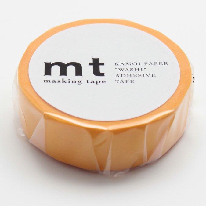 Masking Tape - Uni orange - 1,5 cm x 10 m