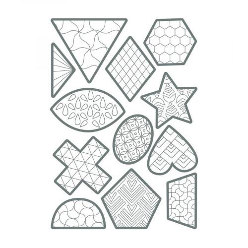 Gommettes Color - Géométriques - 60 pcs