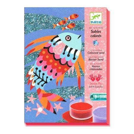 Sables et paillettes - Art au numéro - Arcs-en-ciel de poissons