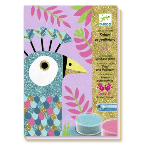 Sables et paillettes - Art au numéro - Eblouissants oiseaux