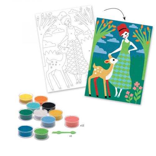 Sables colorés - Art au numéro - Belles en balade