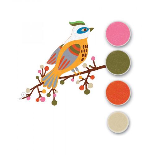 Sables colorés - Art au numéro - Oiseaux de paradis