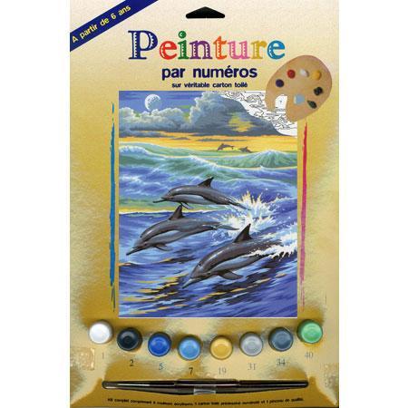 Peinture par numéro - Dauphins