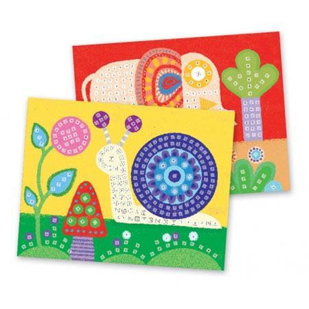 Mosaïques - Art au numéro - Eléphant et escargot
