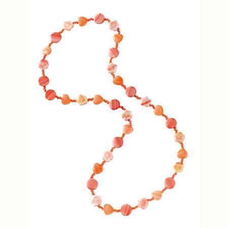 Ass perles charme féerique - Orange