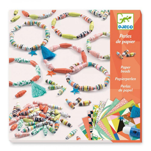 Atelier perles de papier - Bracelets de printemps