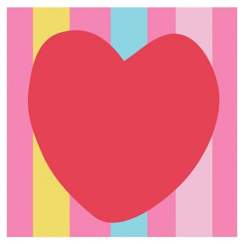 Kit tapisserie XXL - Le cœur rouge - 15 x 15 cm