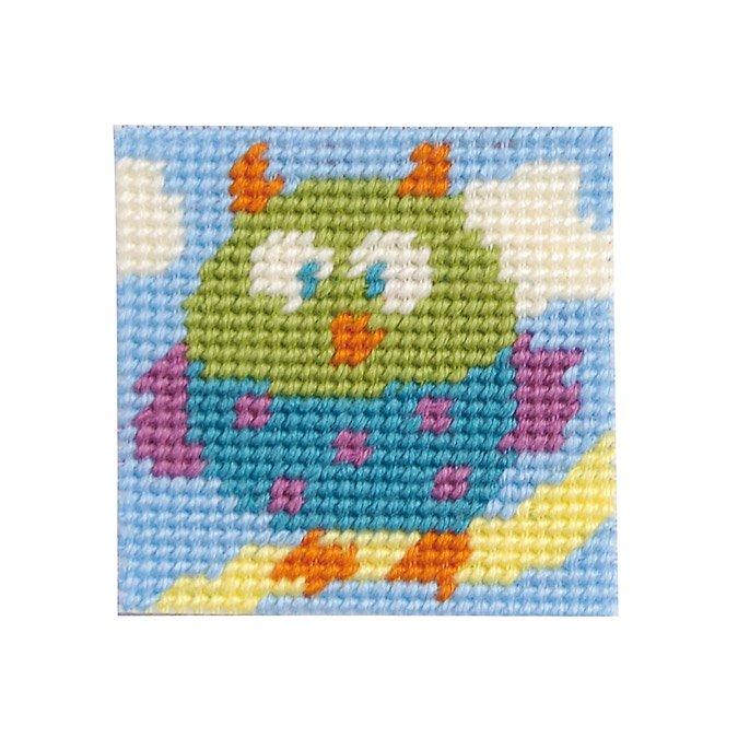 Kit tapisserie XXL - La chouette - 15 x 15 cm