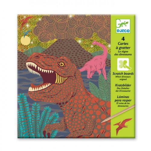 Le règne des dinosaures - 4 cartes à gratter