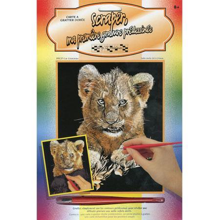 Carte à gratter Lionceau