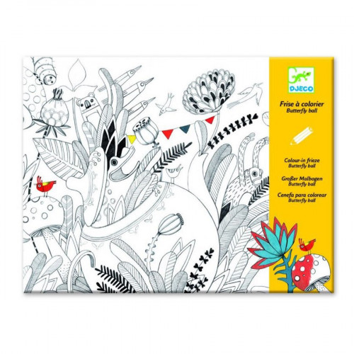 Frise à colorier - Butterfly Ball