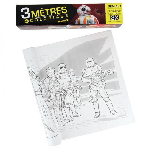 3 mètres de coloriage Star Wars Le réveil de la force