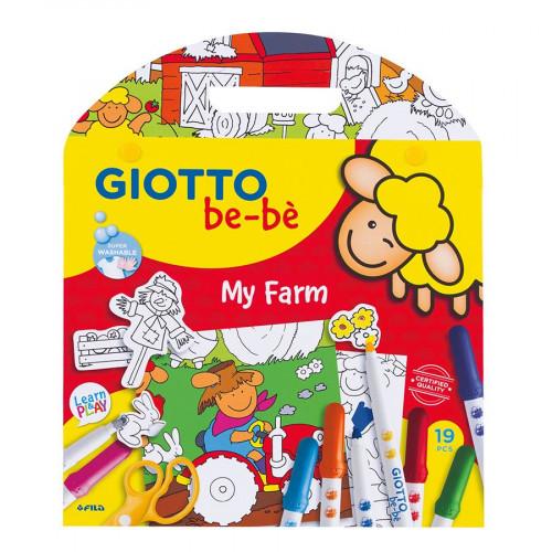 Giotto be-bè - Coffret coloriage et découpage Ma ferme
