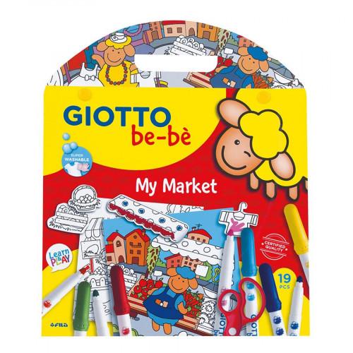 Giotto be-bè - Coffret coloriage et découpage Mon marché