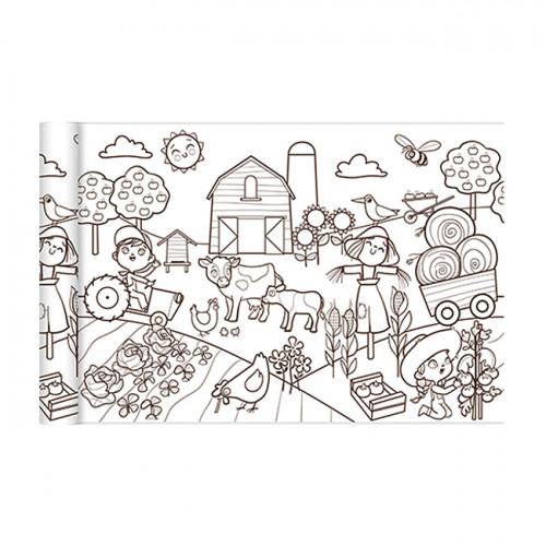 Coloriage Graffy Le monde agricole  - 0,35 x 5 m