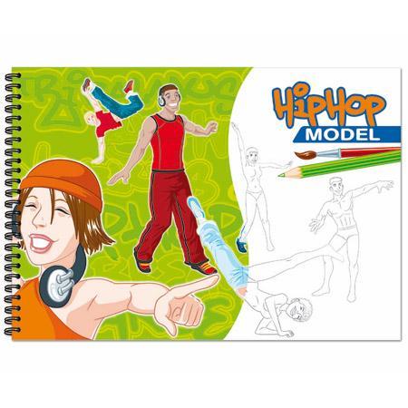 Créativ' Model - Hip hop model - Carnet de stylisme à colorier x50f - A4