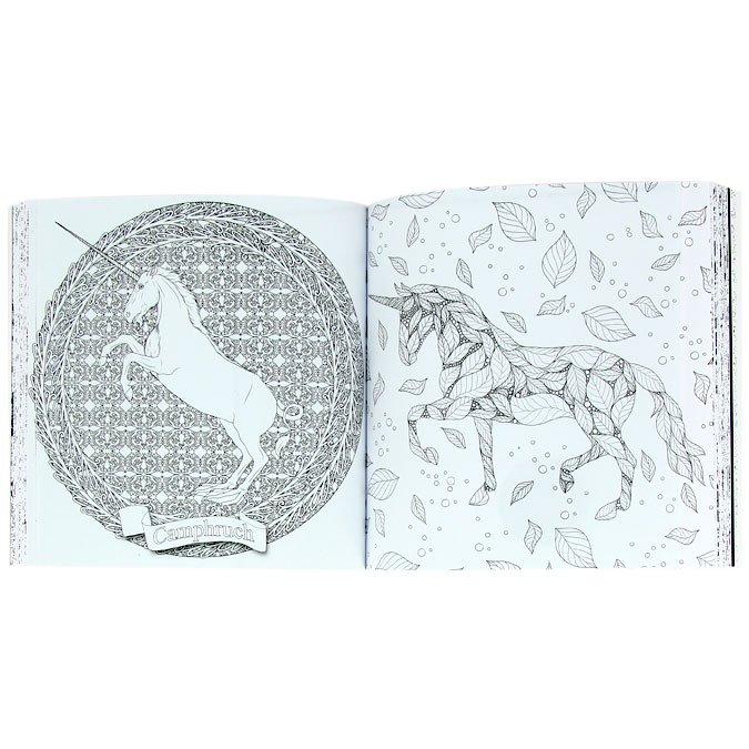 Licornes - Les carrés à colorier Art Thérapie