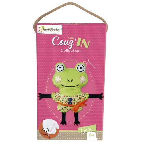 Little Couz'in - Peluche à confectionner - Gaby la grenouille