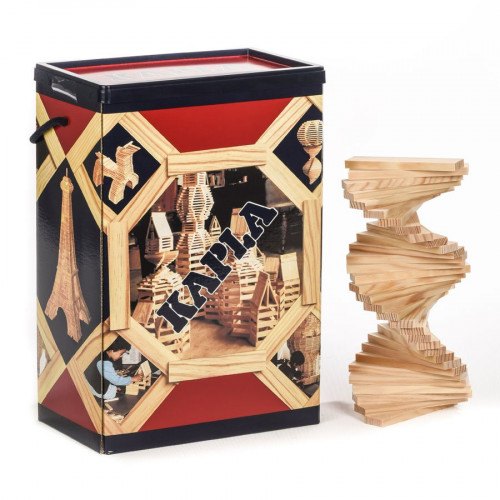 Kapla - Jeu de construction en bois - Baril de 200 planchettes