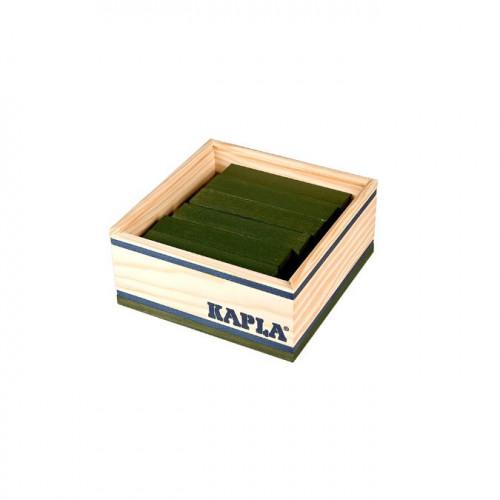 Jeu de construction en bois KAPLA Lot de 40 planchettes vertes