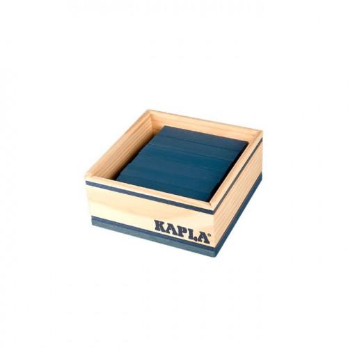 Jeu de construction en bois KAPLA Lot de 40 planchettes bleu foncé